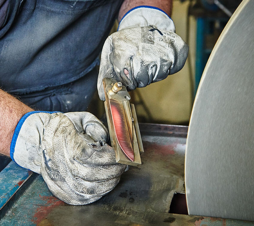 Opracovanie čepele noža Pteryx L2 | www.pteryx.sk
